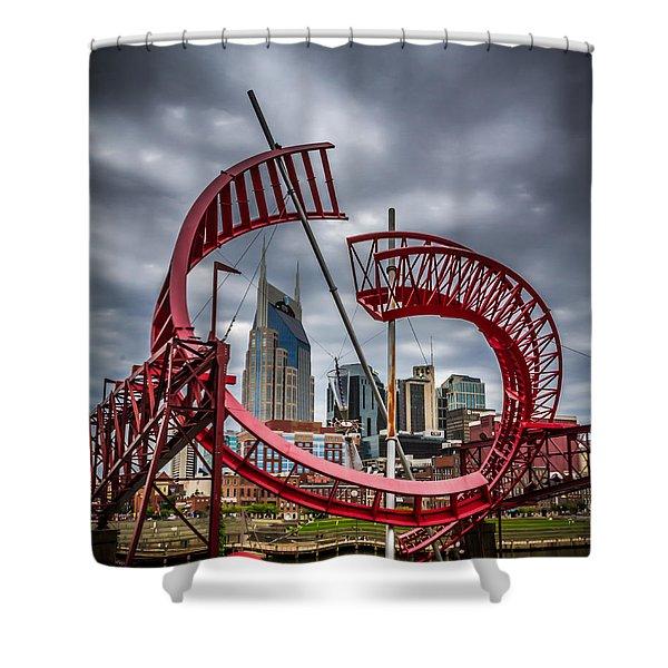 Tennessee - Nashville Through Sculpture Shower Curtain
