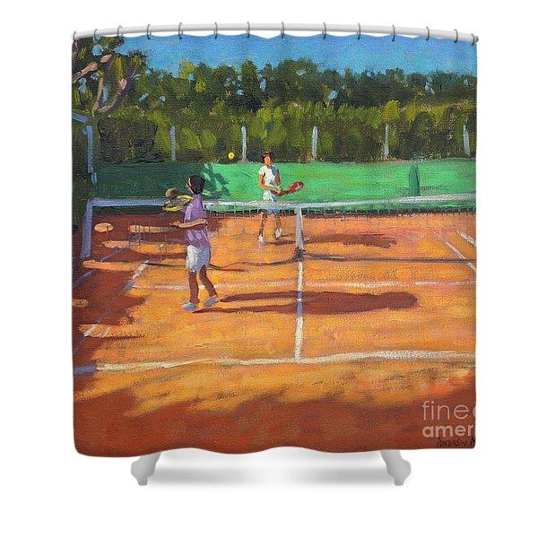 Tennis Practice Shower Curtain