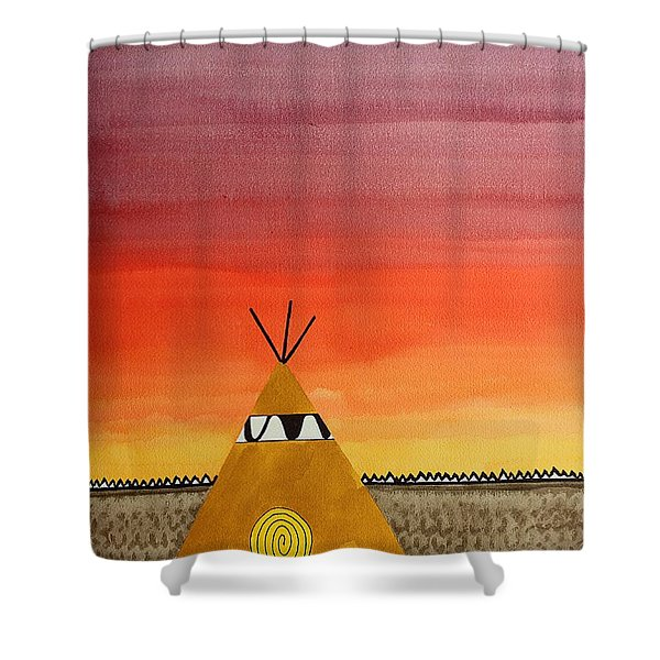 Tepee Or Not Tepee Original Painting Shower Curtain