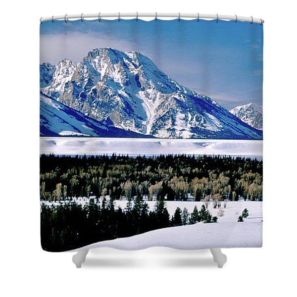 Teton Valley Winter Grand Teton National Park Shower Curtain