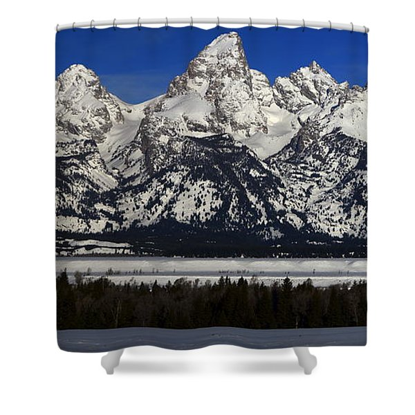 Tetons From Glacier View Overlook Shower Curtain