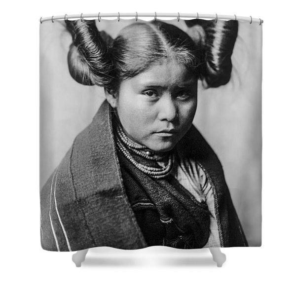 Tewa Girl Shower Curtain