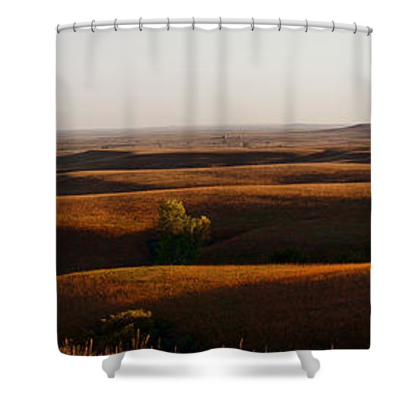 Texaco Hill Sunset Shower Curtain