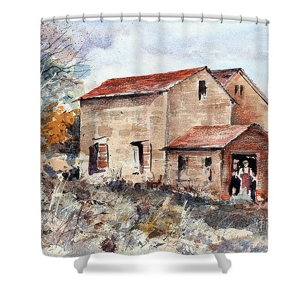 Texas Barn Shower Curtain