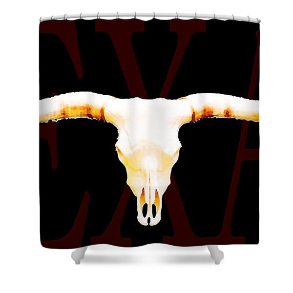 Texas Longhorns By Sharon Cummings Shower Curtain
