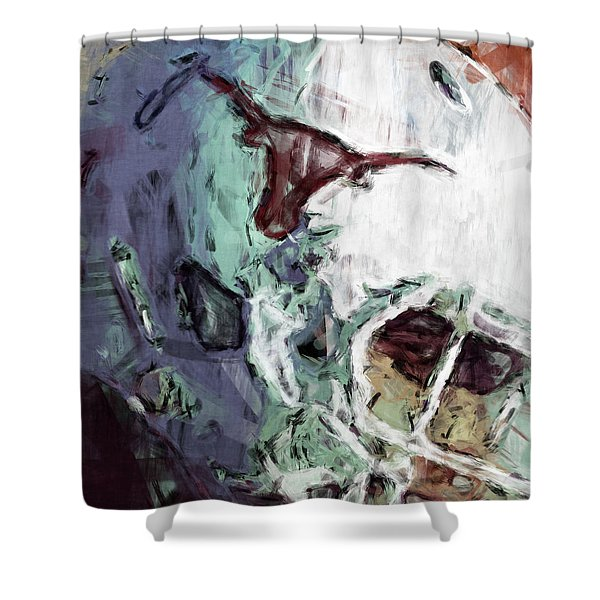 Texas Longhorns Helmet Abstract Shower Curtain