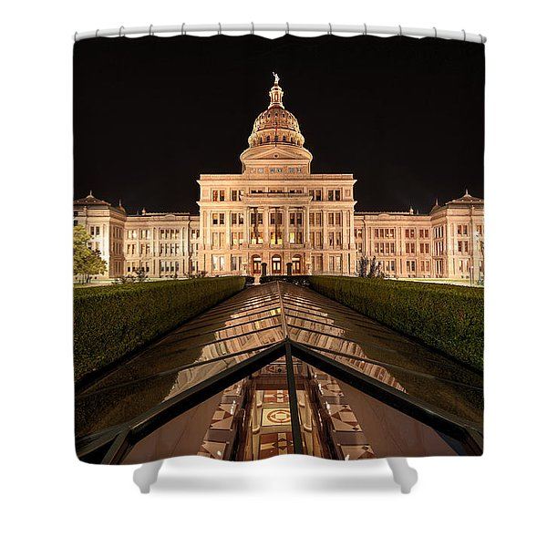 Texas State Capitol Building At Night Shower Curtain