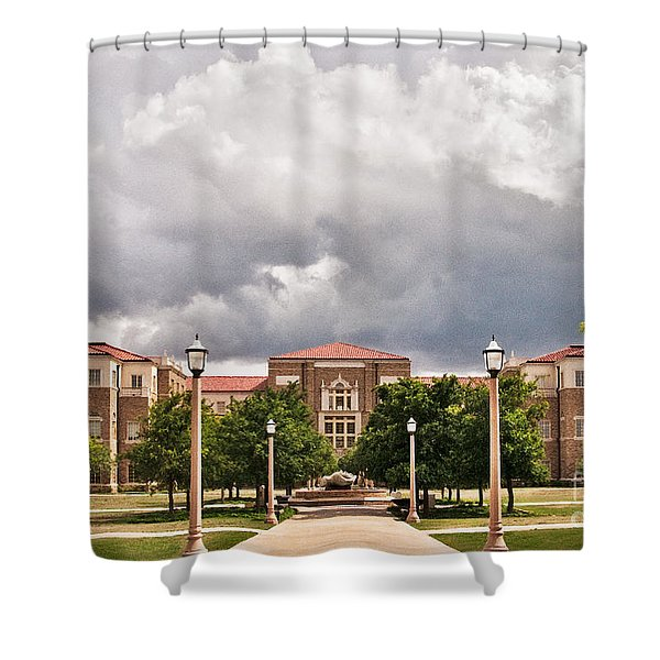 Shower Curtain featuring the photograph School Of Education by Mae Wertz