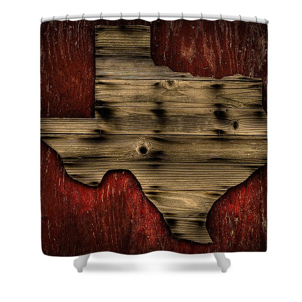 Texas Wood Shower Curtain