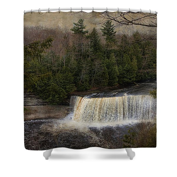 Textured Tahquamenon River Michigan Shower Curtain
