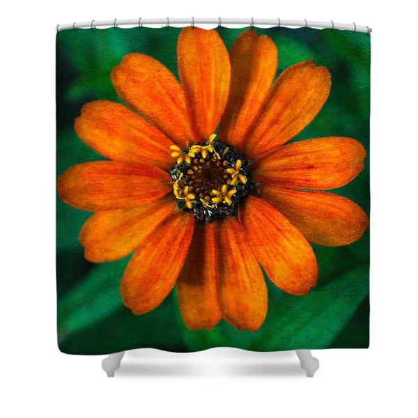Textured Zinnia Shower Curtain