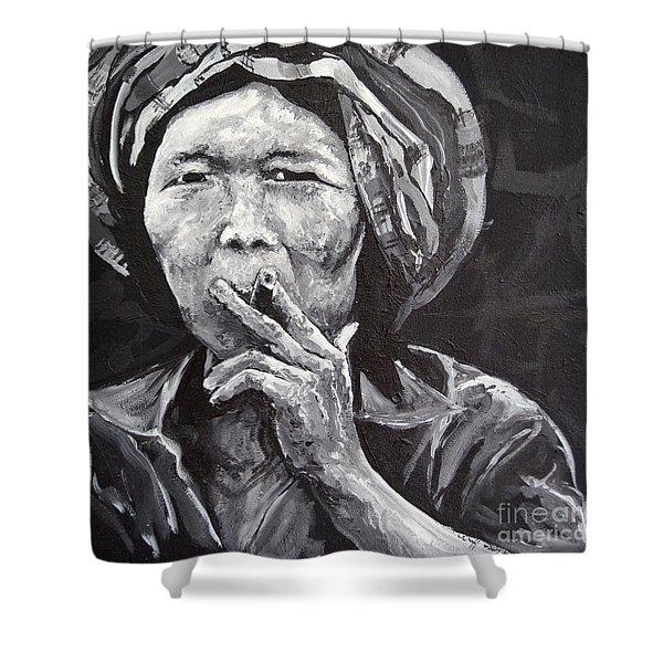Thai Woman Portrait Shower Curtain