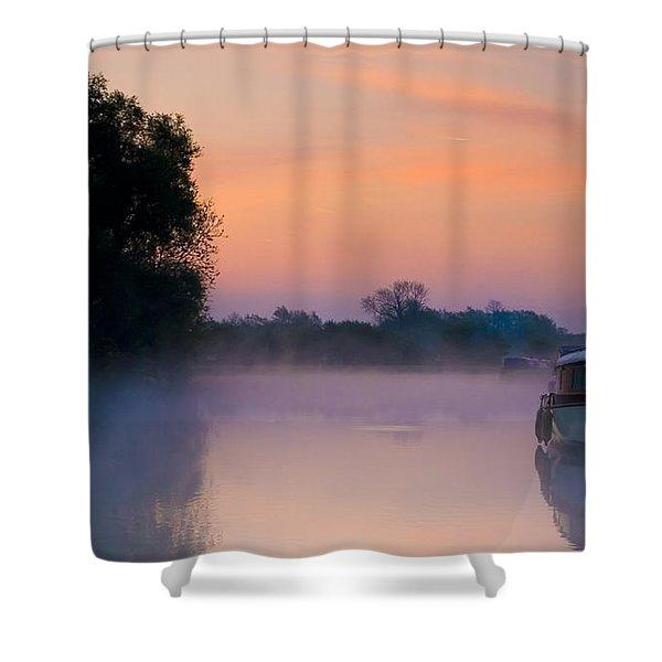 River Thames At Dawn  Shower Curtain