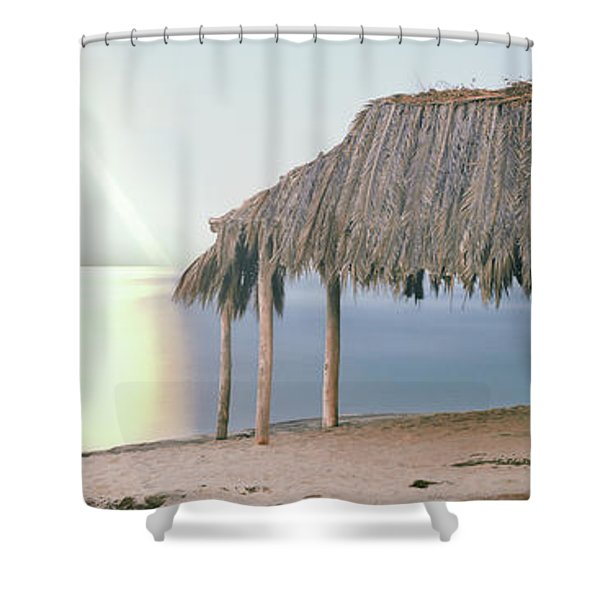 Thatched Roof On The Beach, Windansea Shower Curtain