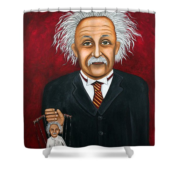 The 2 Einstein's Shower Curtain