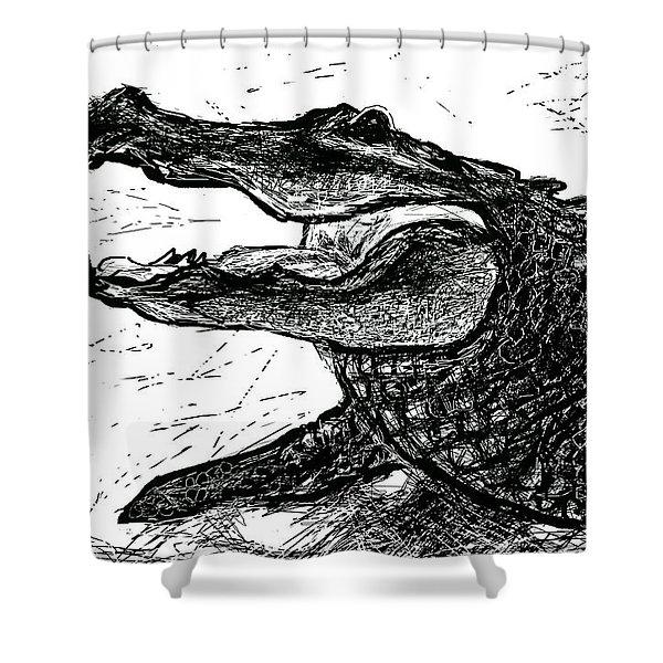 The Alligator Shower Curtain