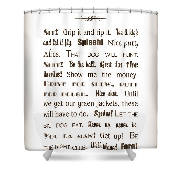 The Ancient Game Of Golf - Sepia Shower Curtain