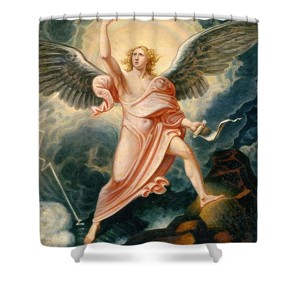 The Angel Proclaiming The End Of Time Shower Curtain