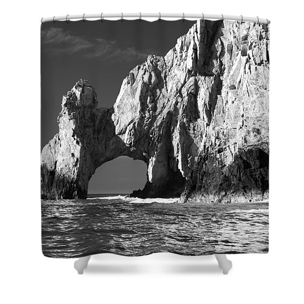 The Arch Cabo San Lucas In Black And White Shower Curtain