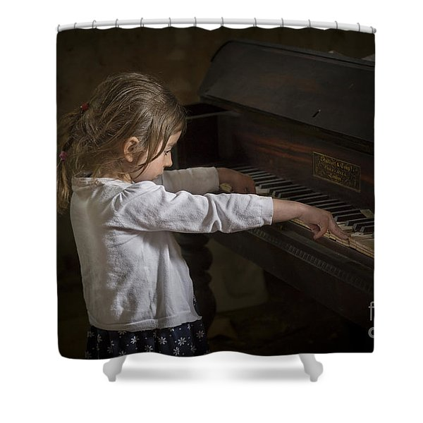 The Art Of Melody Shower Curtain