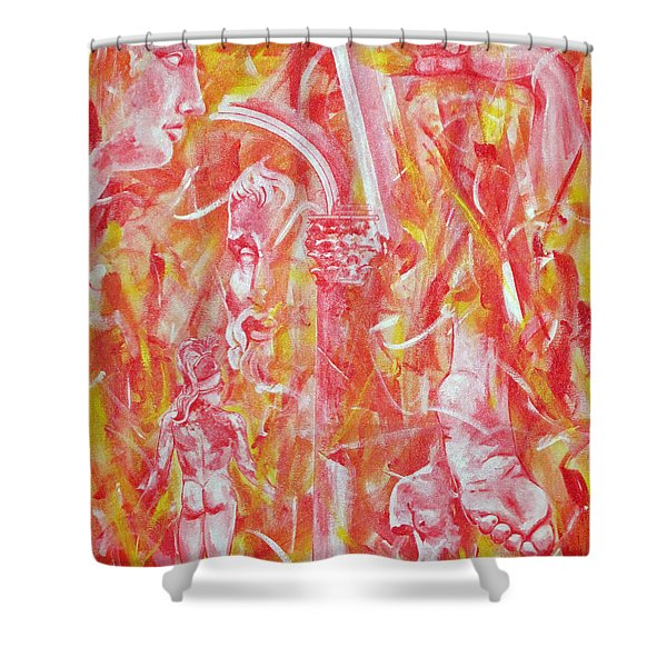 The Art Of Sculptures Shower Curtain