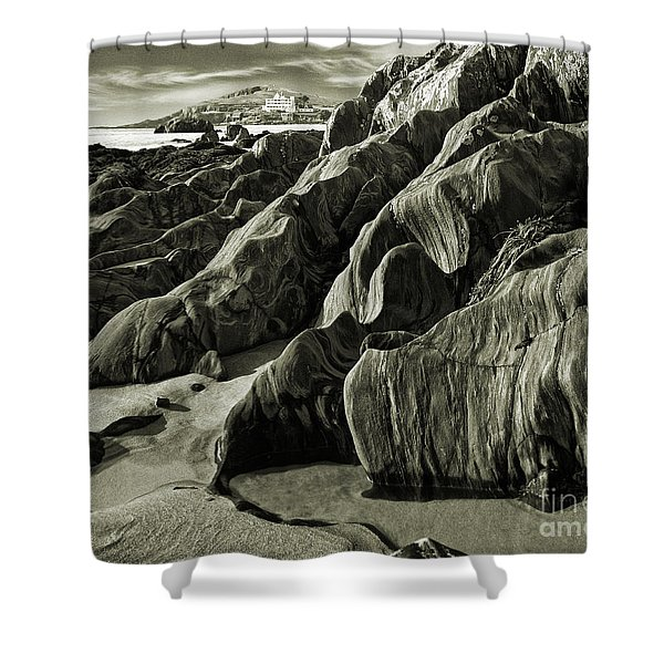 The Art Of Time Shower Curtain