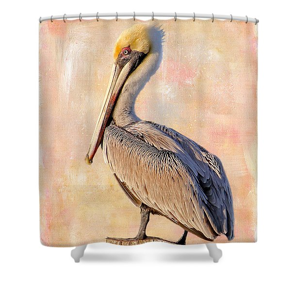 Birds - The Artful Pelican Shower Curtain