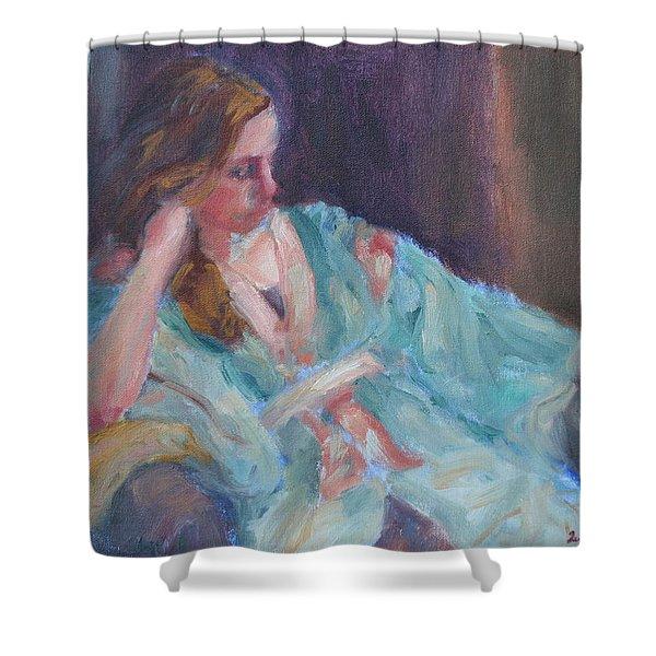 Inner Light - Original Impressionist Painting Shower Curtain