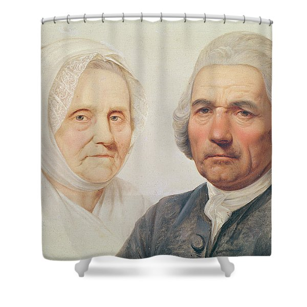 The Artists Parents Oil On Canvas Shower Curtain