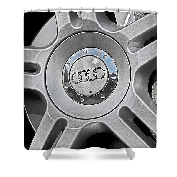 The Audi Wheel Shower Curtain