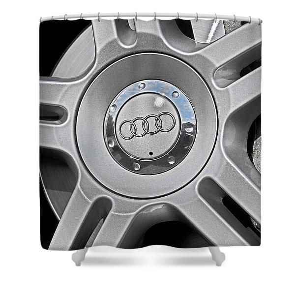 The Audi Wheel Shower Curtain