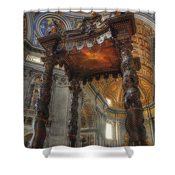 The Baldaccino Of Bernini Shower Curtain
