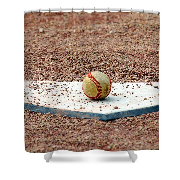 The Ball Of Field Of Dreams Shower Curtain