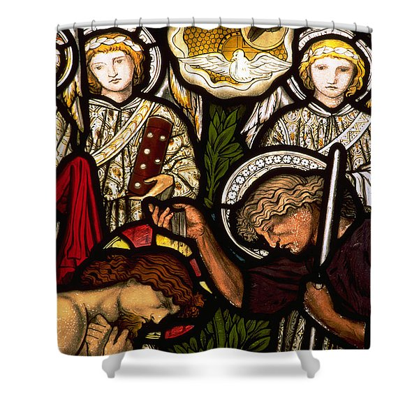 The Baptism Of Jesus Shower Curtain