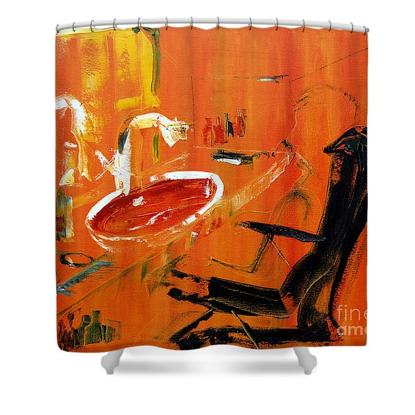 The Barbers Shop - 3 Shower Curtain