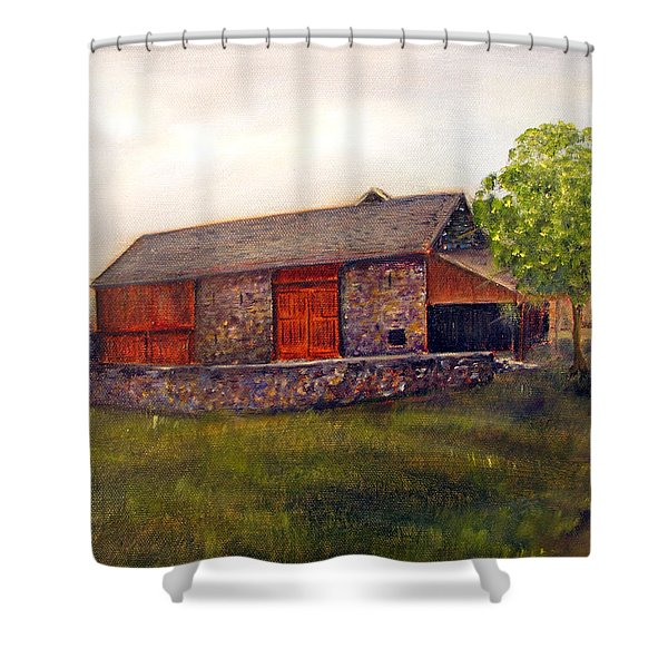 The Barn At Rolling Green Farm Shower Curtain