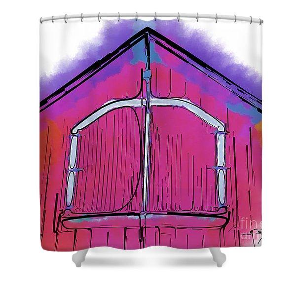 The Barn Door Shower Curtain