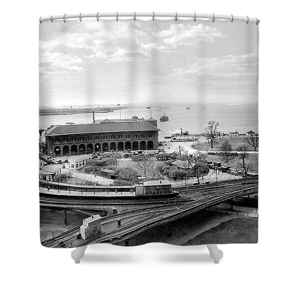 The Battery In Manhattan Shower Curtain