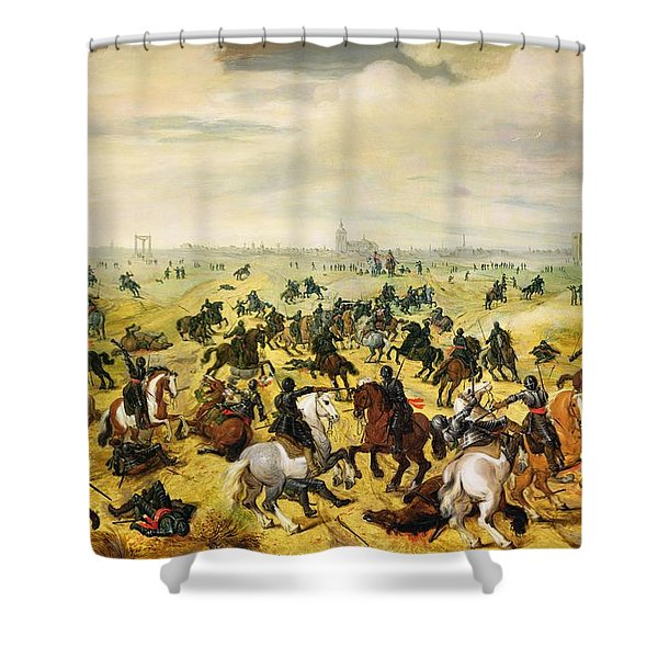 The Battle Of Leckerbeetje, 1600 Panel Pair Of 77047 Shower Curtain