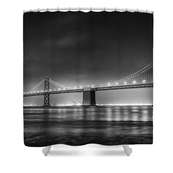 The Bay Bridge Monochrome Shower Curtain