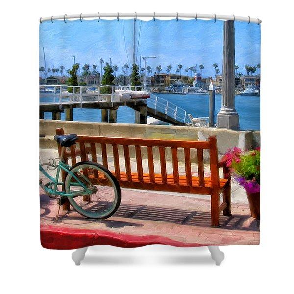 The Beach Cruiser Shower Curtain