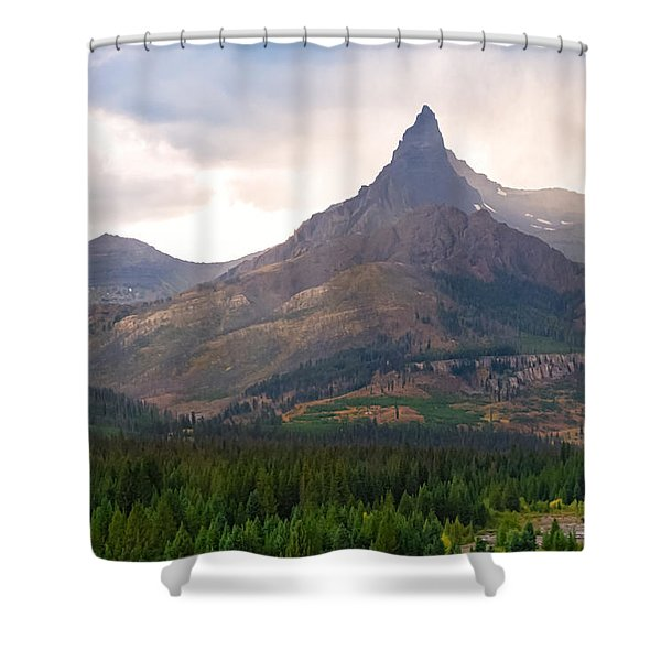The Beartooth Mountains   Shower Curtain