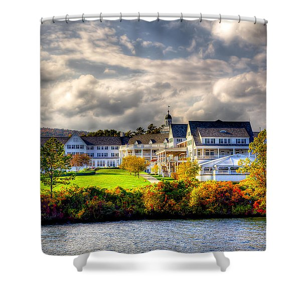 The Beautiful Sagamore Hotel On Lake George Shower Curtain