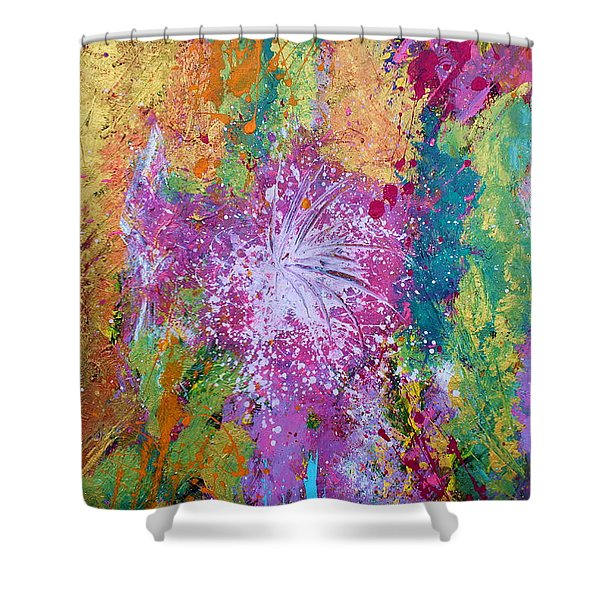 Contemporary Abstract  Shower Curtain