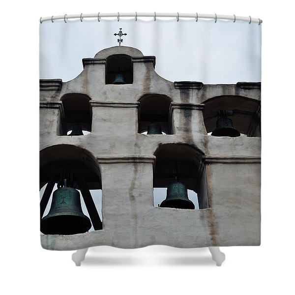 The Bells Of Mission San Gabriel Arcangel Shower Curtain