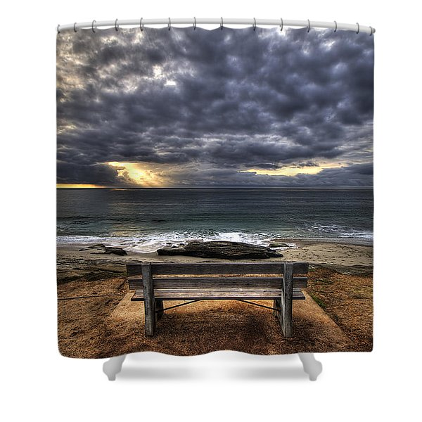 The Bench Shower Curtain