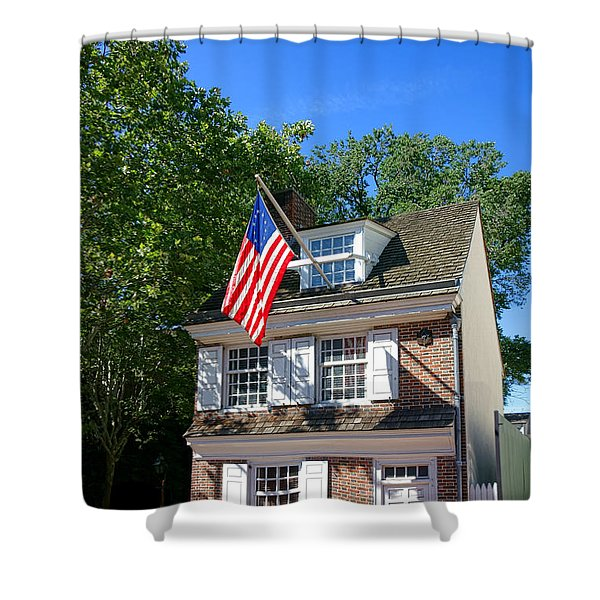 The Betsy Ross House Shower Curtain