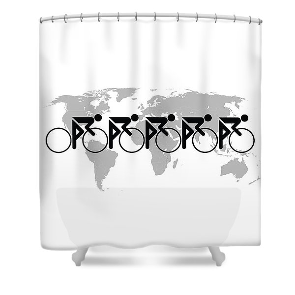 The Bicycle Race 3 Shower Curtain