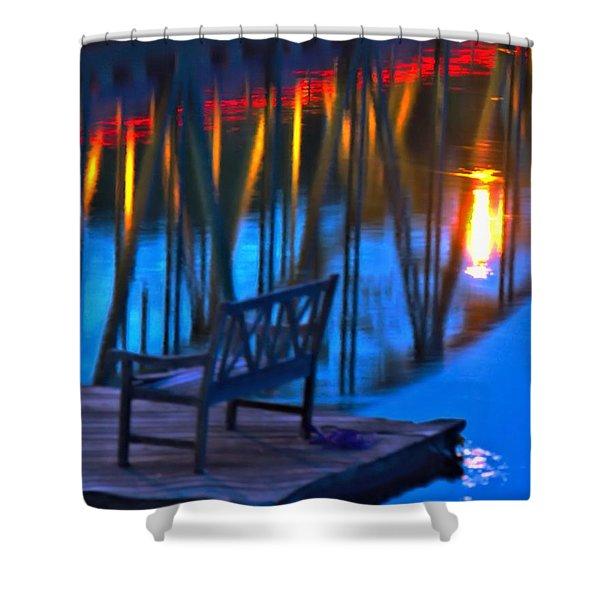 The Bidge At Sunset Shower Curtain