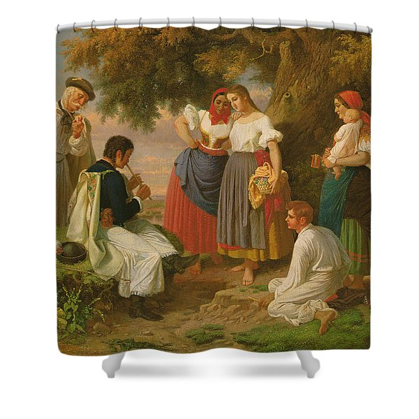 The Birth Of The Folk-song Shower Curtain